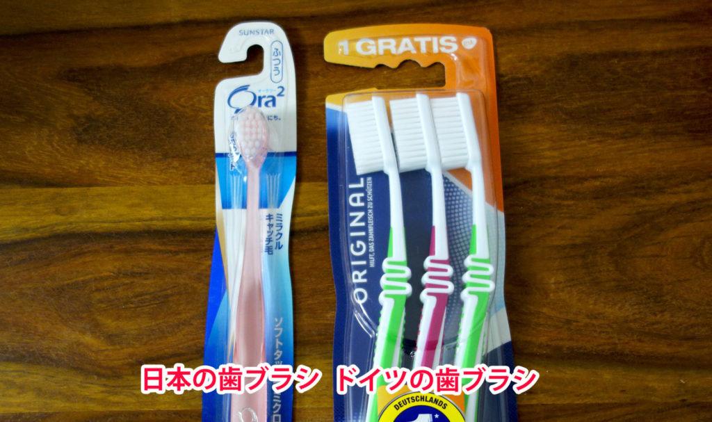 ドイツの歯ブラシはでかい!
