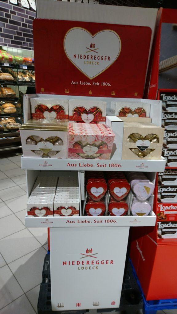 ドイツのマジパン菓子NIEDEREGGERのバレンタインバージョン